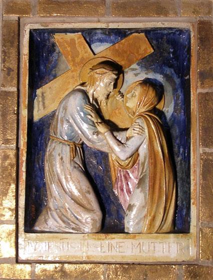 Station 4, Jesus und seine Mutter, 1937, Heinrich Püts, Wiedenbrück (Foto: E.Valerius)