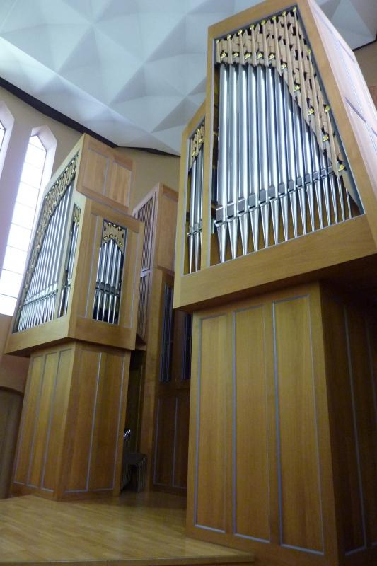 Orgel-Detail: Pfeifen gut geschützt im Orgelgehäuse (Foto: E.Valerius)