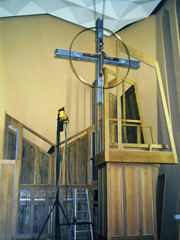 1 Jahr vor der Orgelweihe - Dez. 2000 (Foto: E.Valerius)